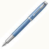 派克高尚高尚精典鈦藍格紋鋼筆*p1931688