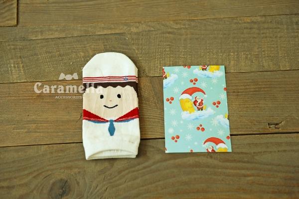 (特價出清) 女士船襪 卡通賣萌領帶娃娃 女襪 顏色隨機【AF02111】襪子i-style居家生活