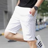 短褲男夏季休閒中褲子男士五分褲男裝七分褲寬鬆沙灘褲潮流大褲衩 七色堇