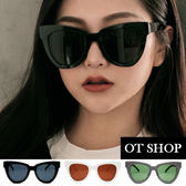 OT SHOP太陽眼鏡‧韓系時尚穿搭方框抗UV400墨鏡‧黑框全黑/白框茶片/條紋框全黑‧現貨‧U83
