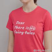 【GIORDANO】 女裝LOVE印花短袖T恤 - 61 葡萄紫紅
