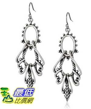 [美國直購] Lucky Brand Silver-Tone Openwork Swing Hoop Earrings 耳環