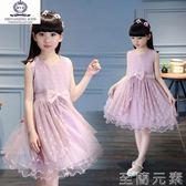 小洋裝3兒童裝4女童連身裙6夏裝短袖5公主裙子8小孩9夏天10歲小女孩 至簡元素