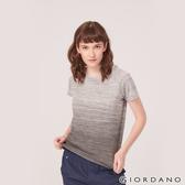 【GIORDANO】女裝G-MOTION運動彈力短袖T恤-89 中花灰X標誌灰