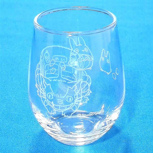 日本製 龍貓玻璃杯水杯公車863308通販屋
