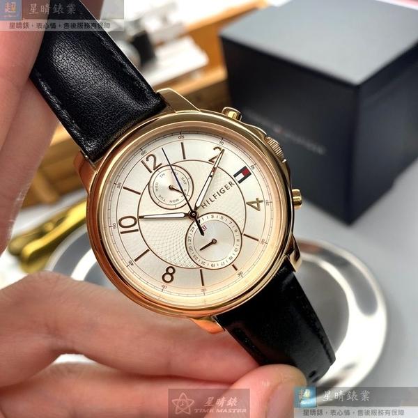 Tommy Hilfiger湯米希爾費格男女通用錶38mm白色錶面深黑色錶帶