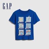 Gap男幼創意字母圓領短袖T恤577622-鈷藍色