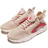 Nike 武士鞋 Wmns Air Huarache Run Ultra 卡其 紅 白 女鞋 休閒鞋 【PUMP306】 819151-105
