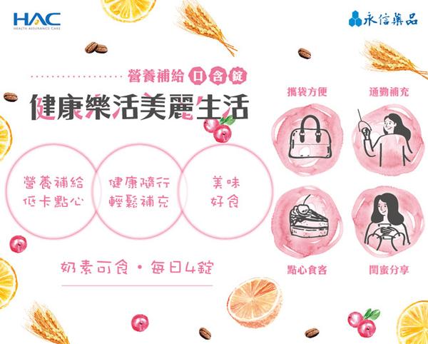 【永信HAC】葉酸+鐵口含錠-蔓越莓口味(120錠x2包,共240錠)