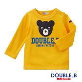 DOUBLE_B  日本製經典黑熊長袖T恤(黃)