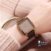 時尚女錶 手錶女新款韓國時尚潮流學生錶正方形簡約皮帶時裝女錶 多色