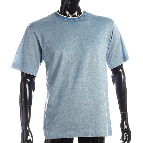 BURBERRY紳士透氣排汗棉質上衣L(藍色)085187-2