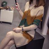 中大尺碼 XL-4XL實拍2019胖妹妹加肥加大200斤韓版時尚最愛毛衣連衣裙R66.6126.1號公館