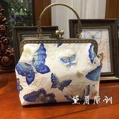 蝴蝶手提包民族旗袍包包斜挎女包中國風