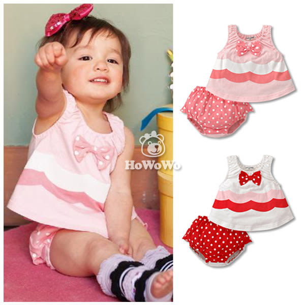 粉紅點點寶寶裙