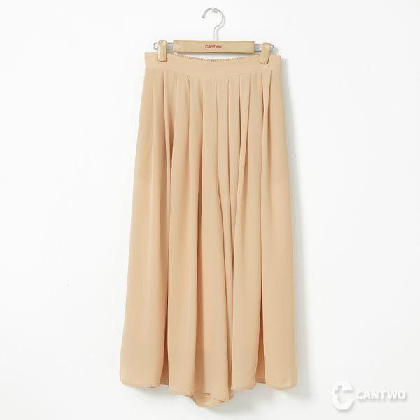 CANTWO雪紡飄飄寬褲裙-共兩色