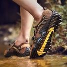 駱駝 洲夏季網布鞋男戶外休閒登山鞋涉水鞋男士溯溪鞋透氣防滑鞋 依凡卡時尚