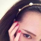 麻花編織珍珠造型髮箍【Vogues唯格思】G001