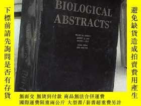 二手書博民逛書店BIOLOGICAL罕見ABSTRACTS 2003 VOLUME 110 NUMBER 1 生物學文摘2003年