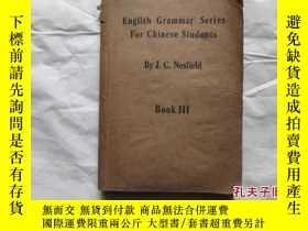 二手書博民逛書店ENGLISH罕見GRAMMER SERIES FOR CHIN