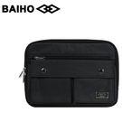 【橘子包包館】BAIHO 台灣製造 多功能 側背包/斜背包 BHO502 黑色