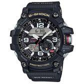 G-SHOCK 全方位防塵泥雙傳感器休閒運動錶-帆布黑