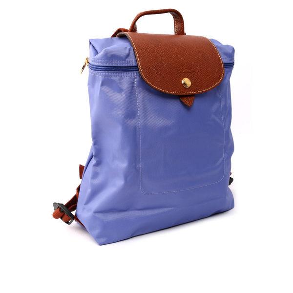 【LONGCHAMP】LE PLIAGE尼龍折疊後背包(薰衣紫) 1699089B40