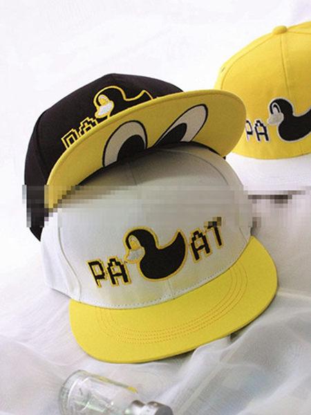韓國可愛大黃鴨Pancoat情侶鴨舌帽棒球嘻哈 平沿 帽子