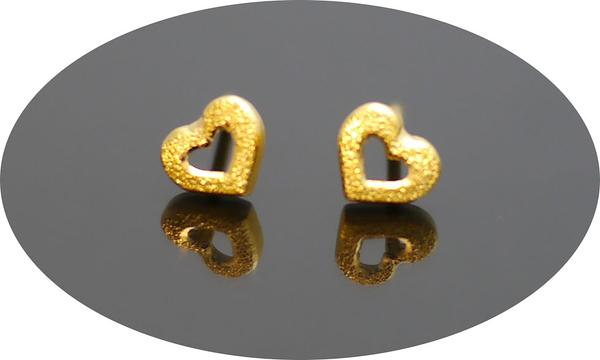 gold 黃金 耳環 金飾 保證卡 重量0.31錢 [ ge 070 ]