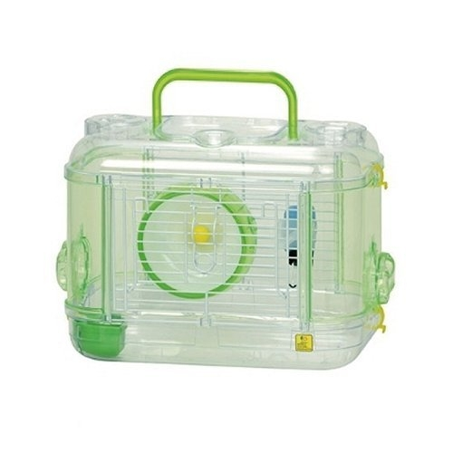 *WANG*日本SANKO愛鼠晶瑩屋透明MINI款《透明綠C101|透明紅C102》鼠籠 兩種可選 倉鼠適用