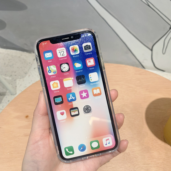 iPhone11ProMax 蘋果手機殼 可掛繩 冬季雪花流沙達菲熊 矽膠軟殼 iX/i8/i7