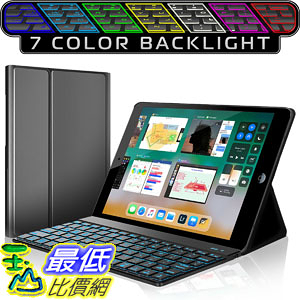 [107美國直購] iPad Keyboard Case New 2018 iPad 2017 iPad iPad Pro 9.7 iPad Air 1 and 2 Bluetooth
