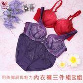 華歌爾-雙12大省團美胸 B-E 內衣褲3件組(E組)用美胸展現魅力-限時優惠QB1111-AE
