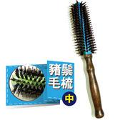 金德恩 台灣製造 專業級鋁管導熱豬鬃毛12排美髮專用造型梳-美容美髮/造型/梳子 (中)