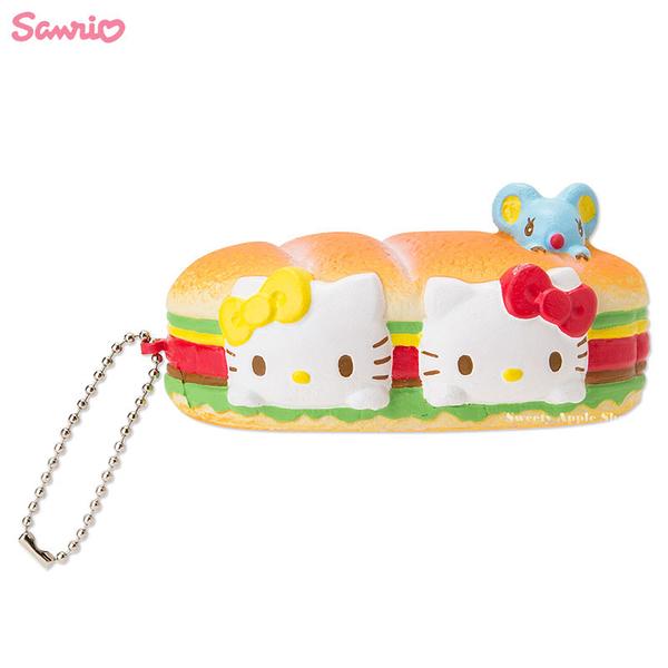 日本限定 三麗鷗  HELLO KITTY  三明治麵包造型 趣味珠鏈吊飾