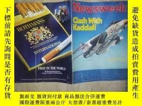 二手書博民逛書店X6罕見NEWSWEEK(1981.8.31)Clash Wit