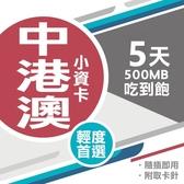 中港澳上網卡 5天 無限流量吃到飽 即插即用 中國聯通 4G上網 吃到飽上網SIM卡 網路卡 漫遊卡