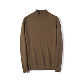 半高領針織衫-純色百搭素面修身男毛衣5色73wl28【時尚巴黎】