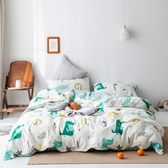 【回到森林家】單人-台灣製200織精梳棉床包枕套組