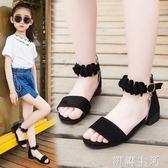 凉鞋女童鞋涼鞋新款潮韓版夏季中大童女孩小高跟公主鞋兒童涼鞋女 初語生活