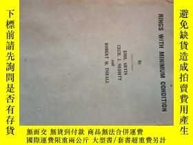 二手書博民逛書店rings罕見with minimum condition 1946年出版 英文原版Y10257 出版1