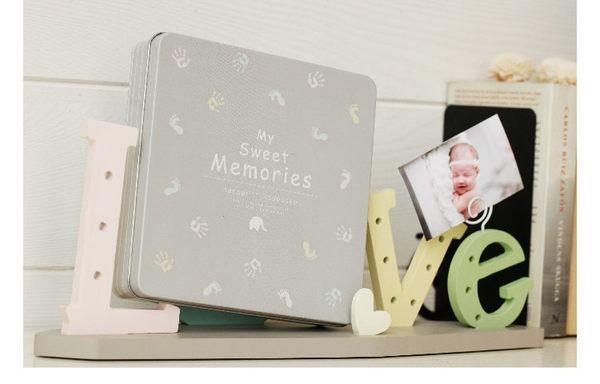 可愛紀錄寶寶足印手印成長相框 新生兒紀念套裝禮物2