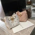 特賣 上新小包包女夏季新款潮韓版百搭斜挎包時尚蕾絲單肩包水桶包