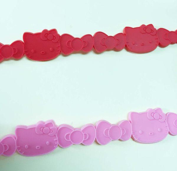 【震撼精品百貨】Hello Kitty 凱蒂貓~手環/手鍊-橡膠材質-紅緞帶造型