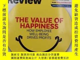 二手書博民逛書店harvard罕見business review the value of happiness how emplo
