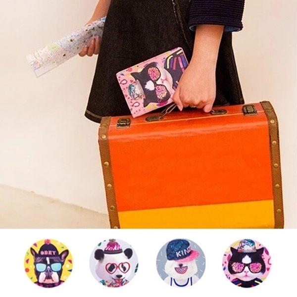 護照夾-可愛動物皮革護照包/證件夾/卡片夾-共4色-B280096-FuFu