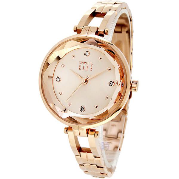 ELLE (ES21018B02X) 時尚 玫瑰金 女錶/32mm