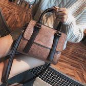 手提包包包女秋季女包韓版簡約百搭手提包小方包單肩斜挎小包潮    都市時尚