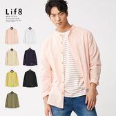Life8- Casual 會呼吸 全棉織布立領襯衫【10191】