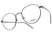 CARIN 光學眼鏡 LENNON C1 (槍黑-透灰) 韓星秀智代言 知性圓框造型款 # 金橘眼鏡